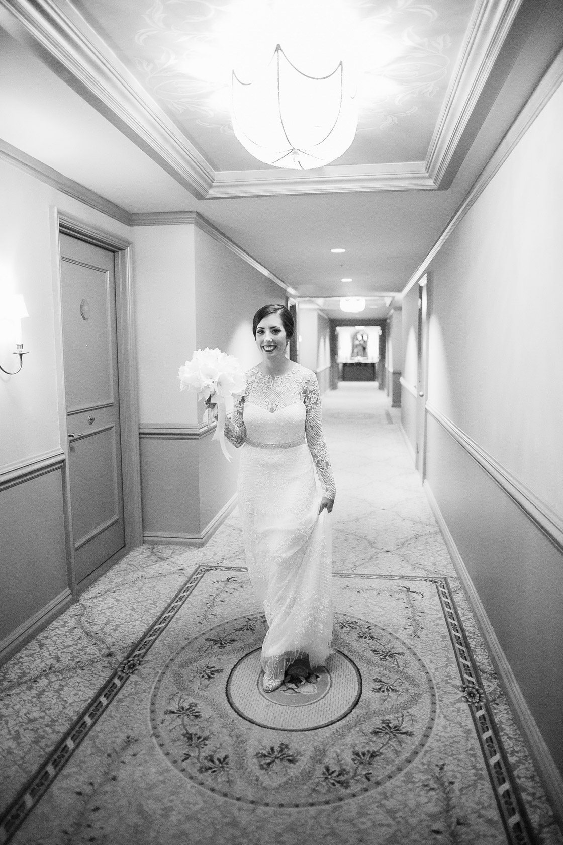 new years eve wedding new orleans bride departing hotel