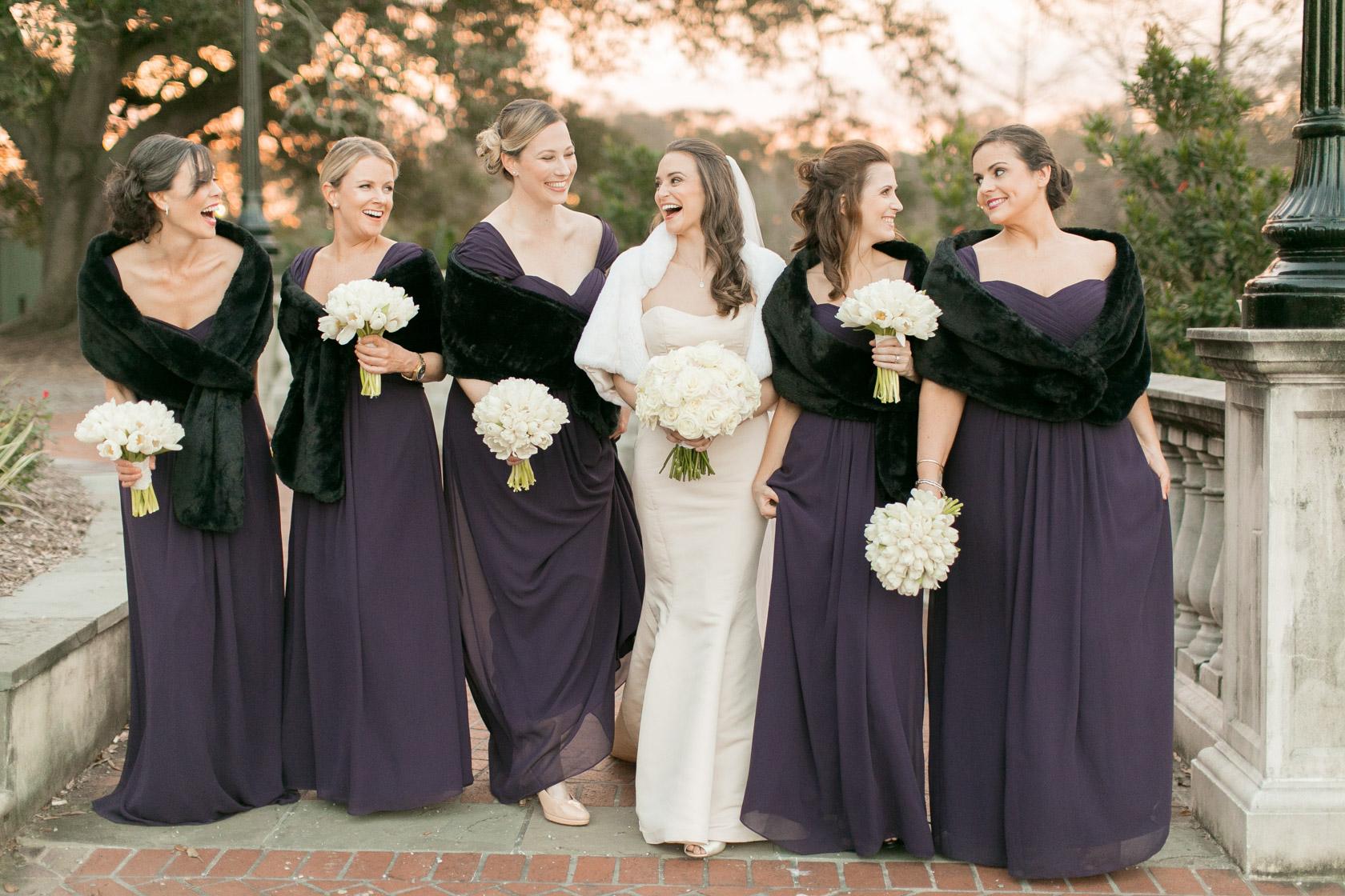 bridesmaids at audubon park in new orleans 06