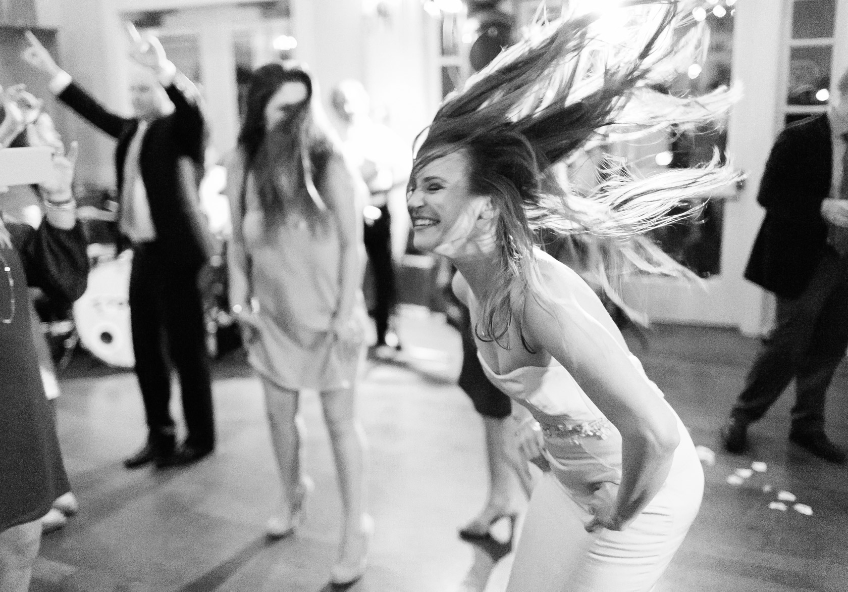 audubon clubhouse bride having fun on the dance floor