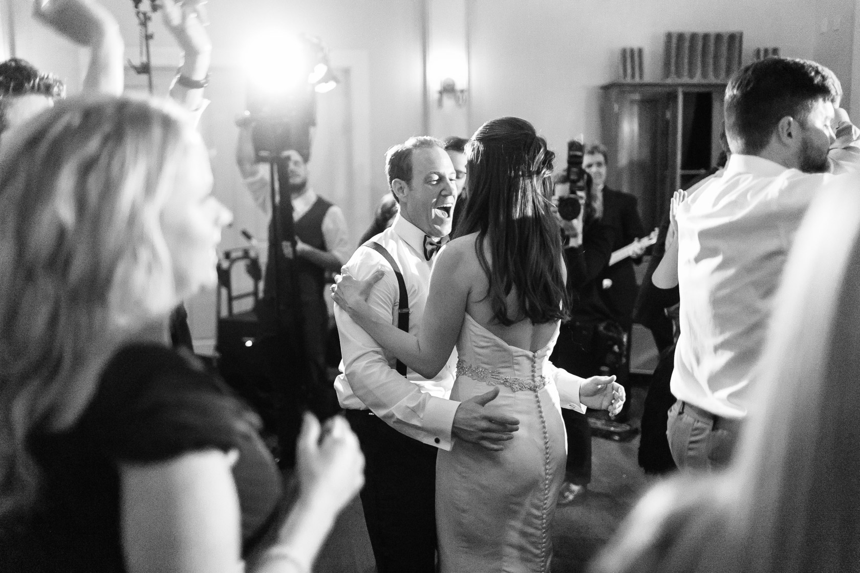 audubon clubhouse bride and groom dancing the night away