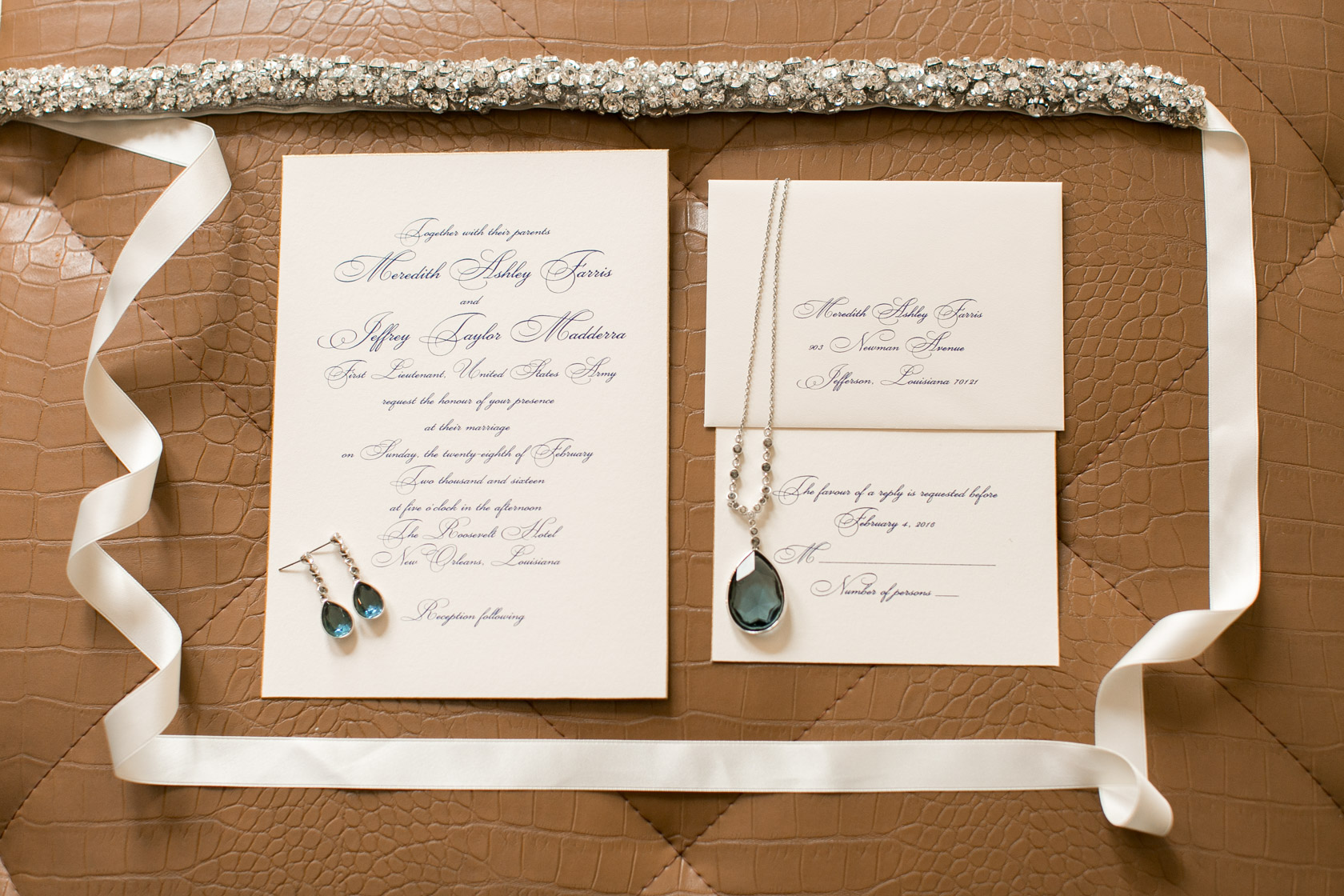 the roosevelt hotel wedding invitation suite