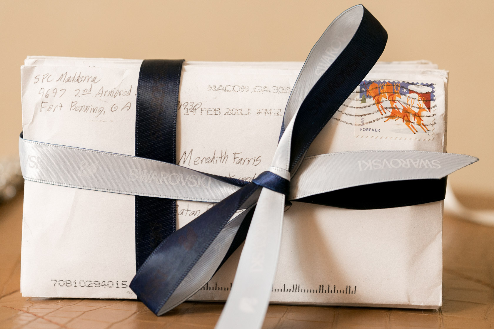 the roosevelt hotel wedding bride and groom love letters