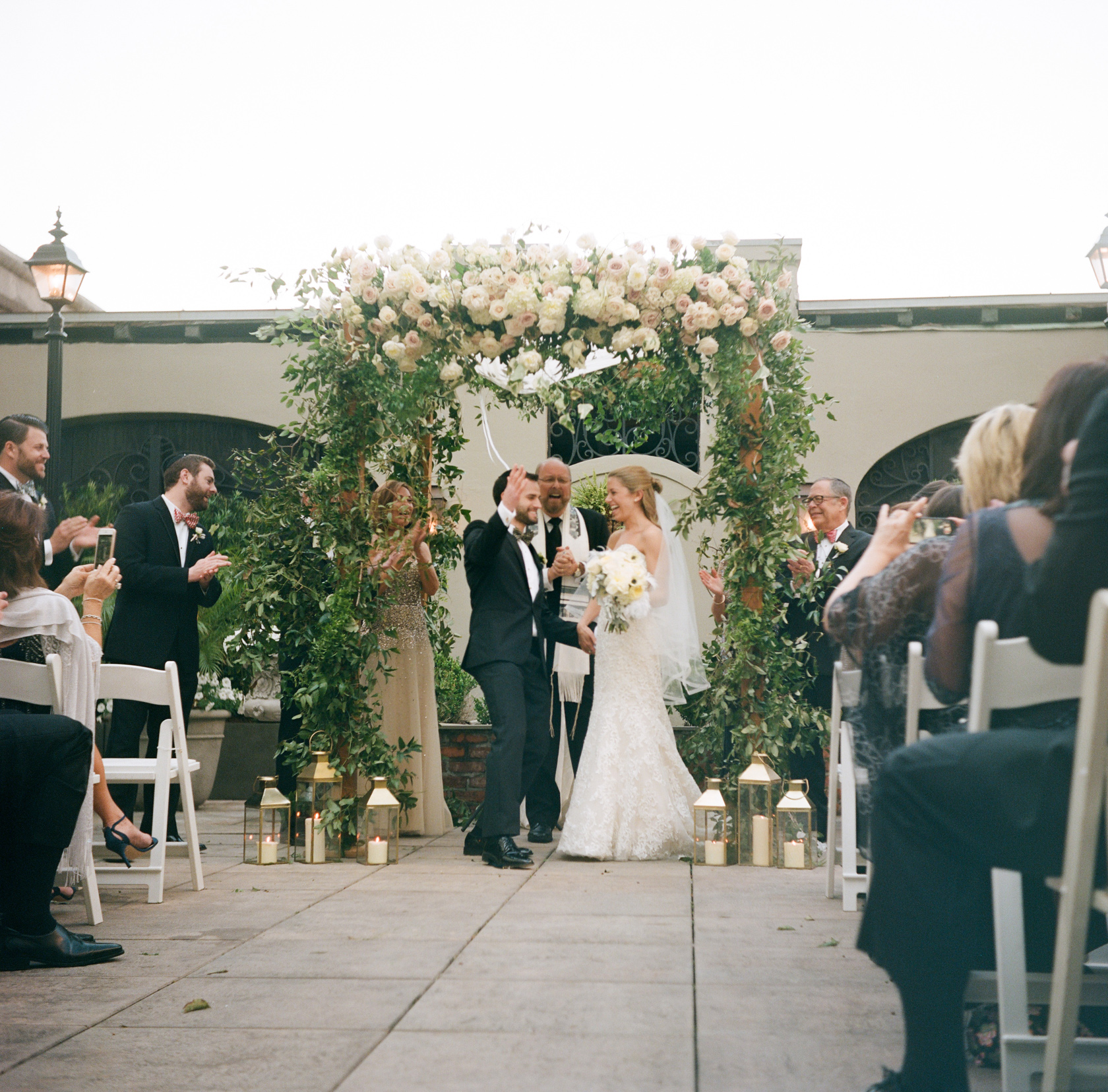 omni royal orleans courtyard jewish wedding ceremony