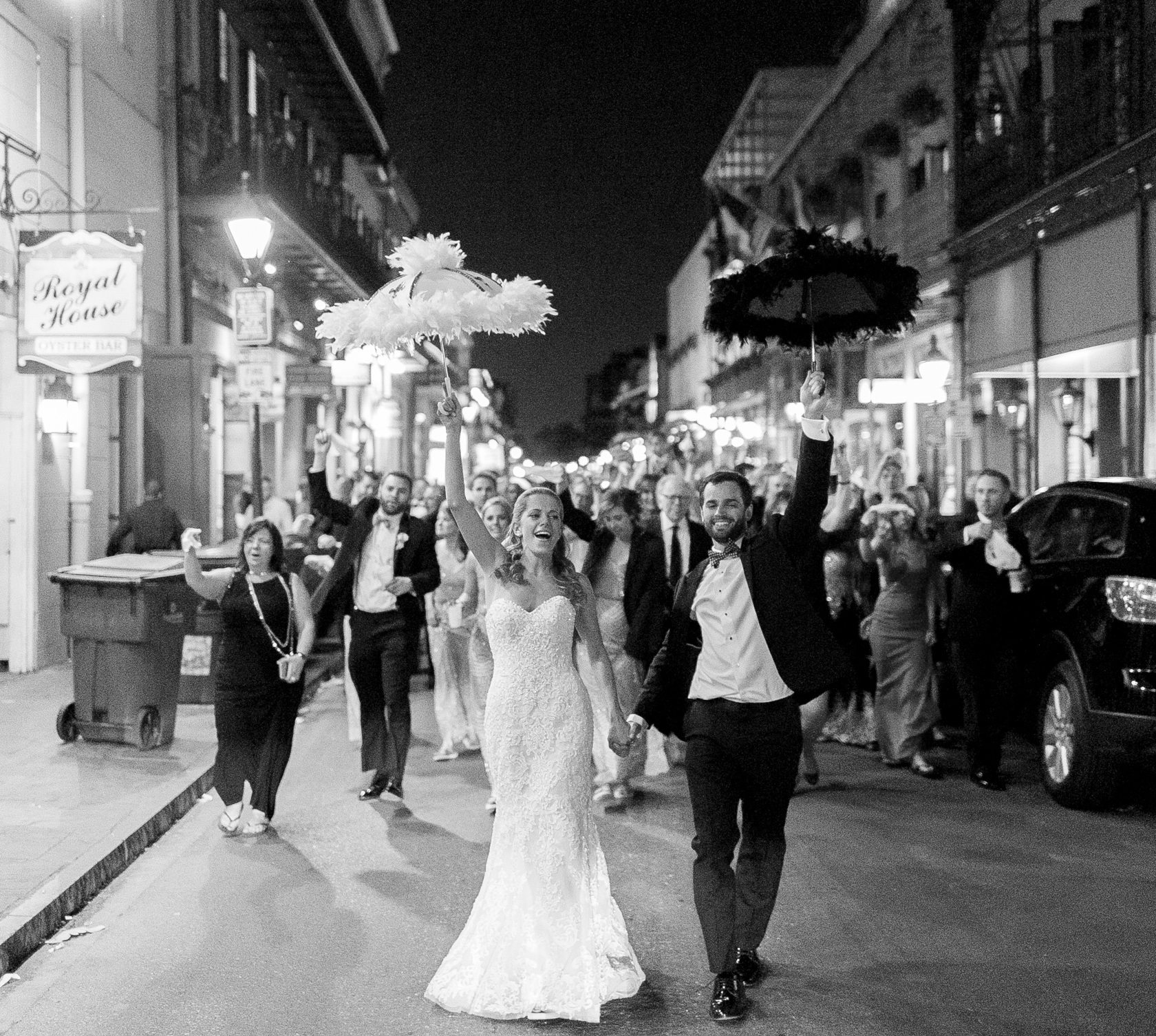 omni royal orleans wedding second line 02