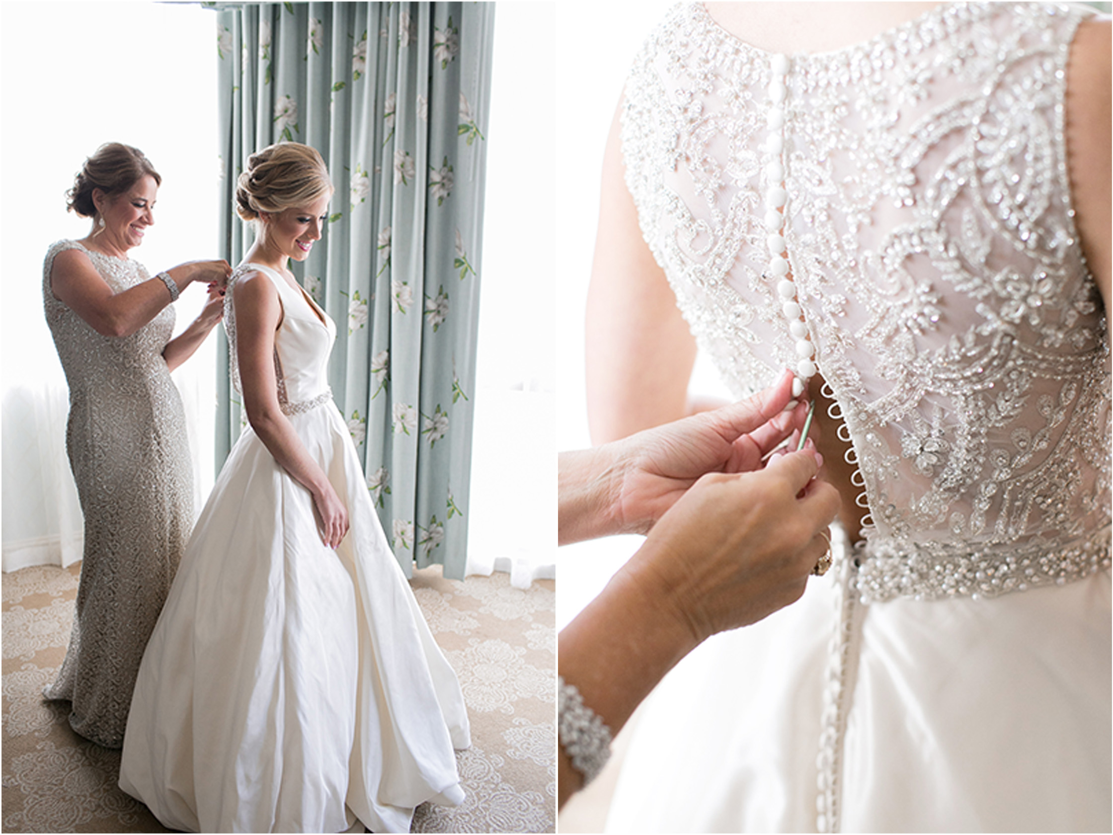 lace detail on back of wedding dress