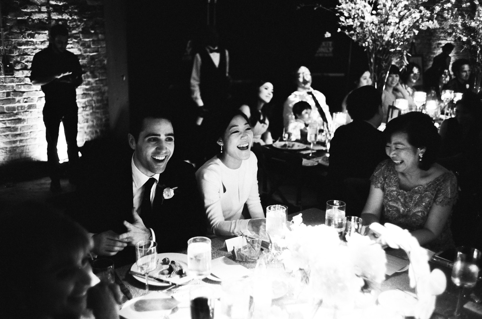 New Orleans Wedding on Film seated dinner at contemporary