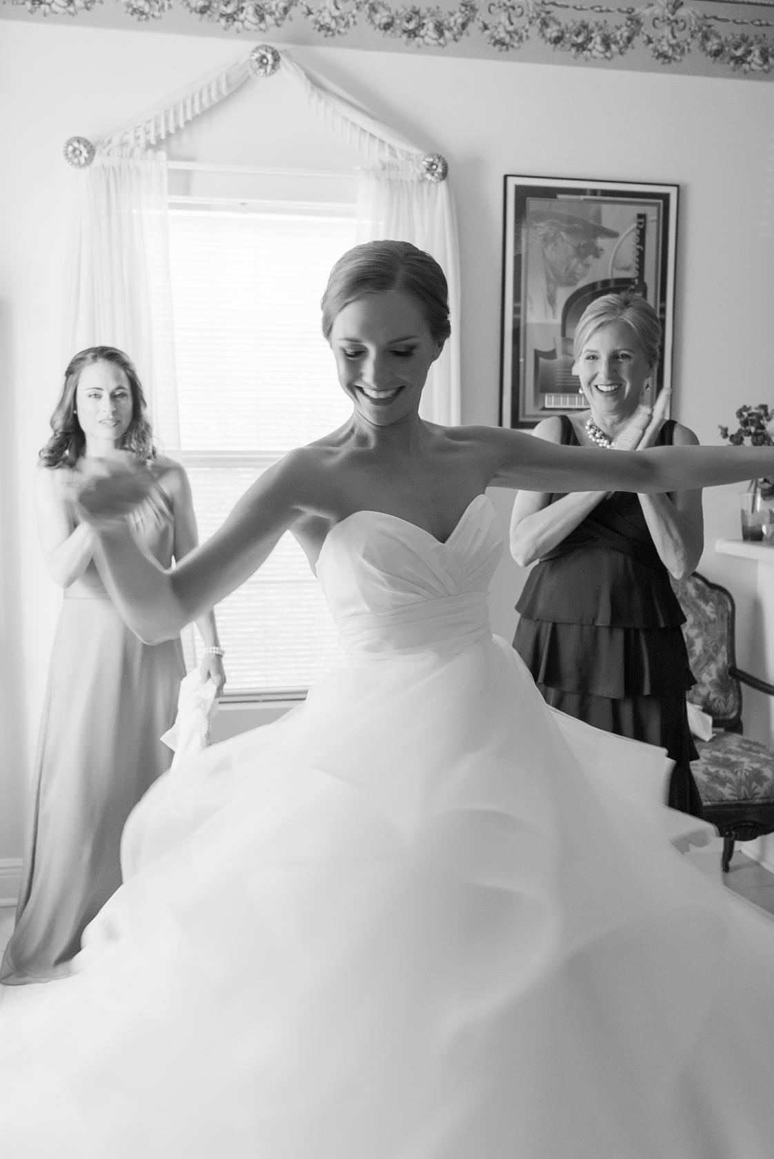 bride spinning in wedding dress