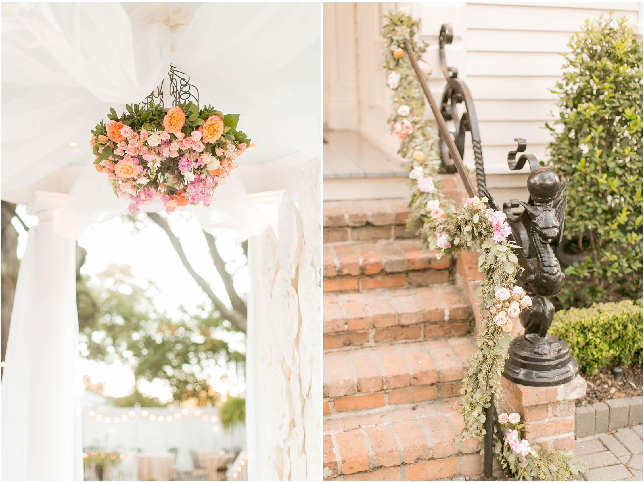 elms mansion wedding floral details