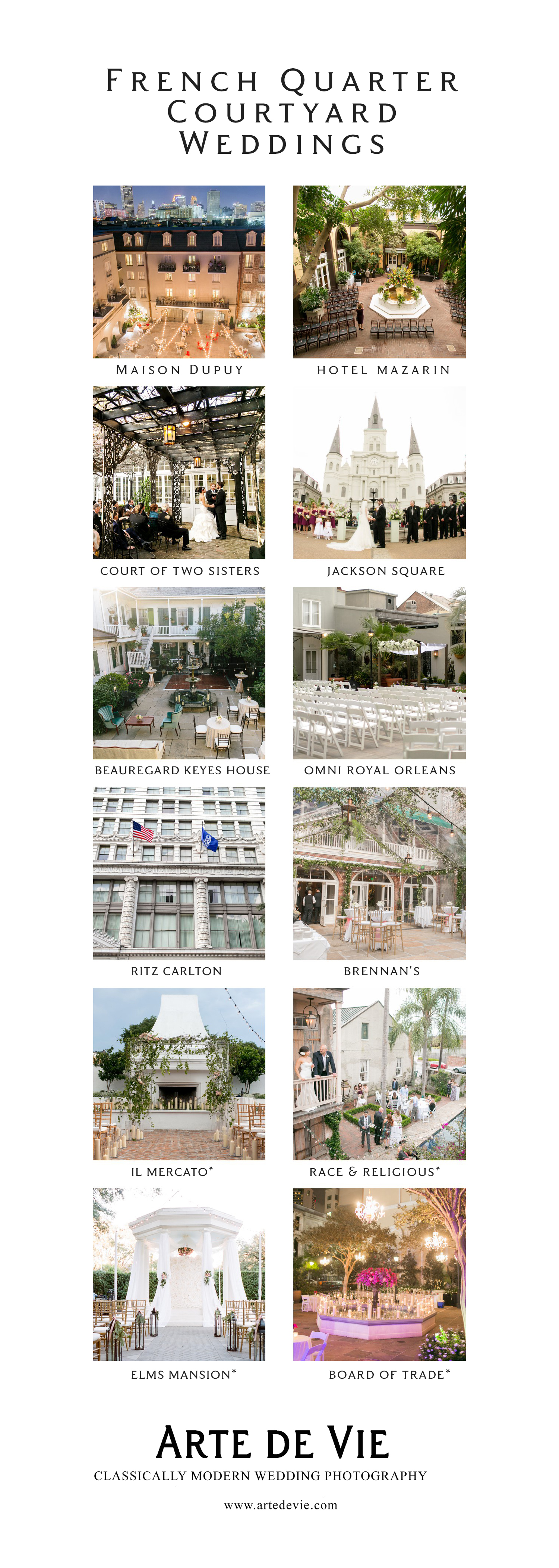 french quarter courtyard weddings
