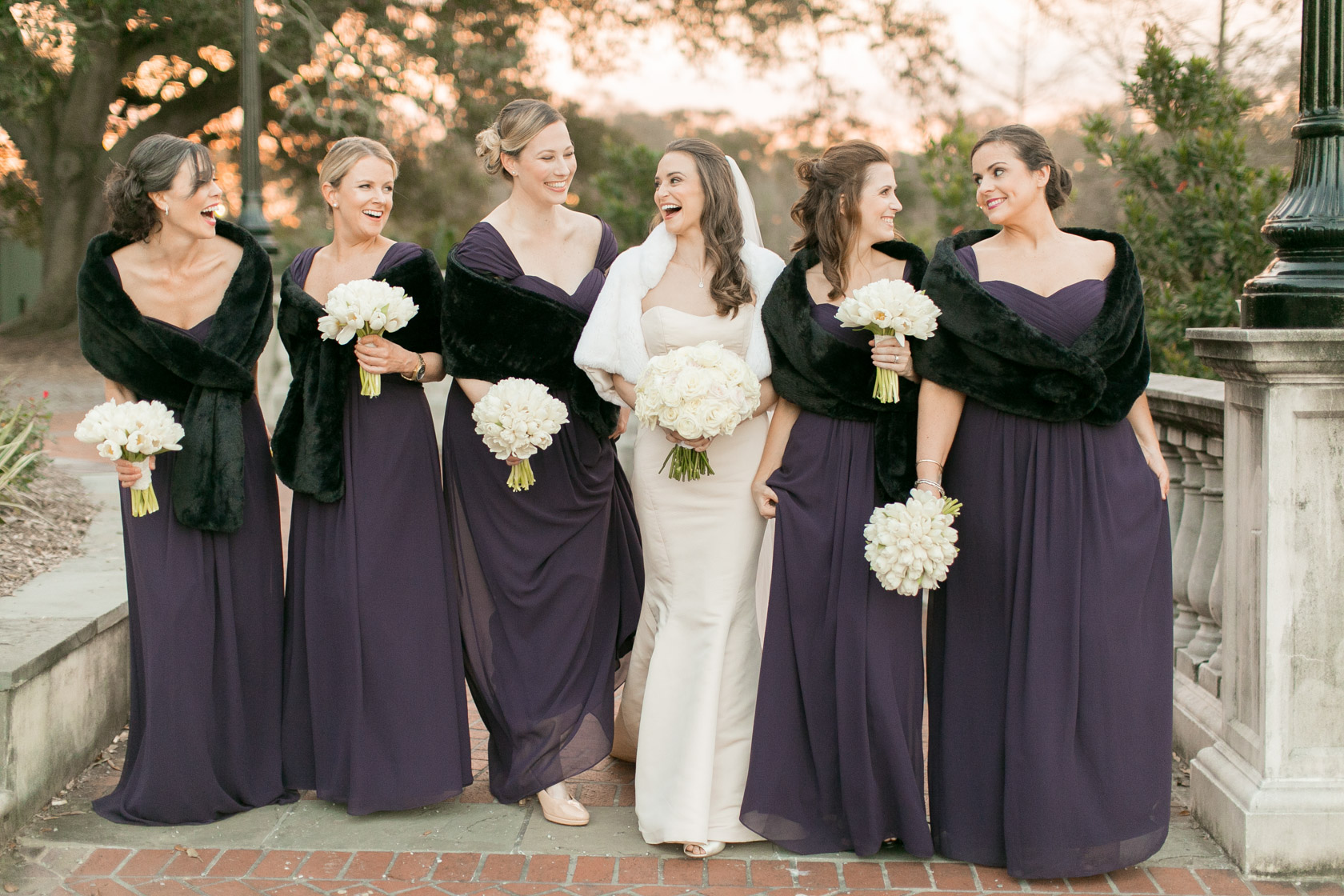 bridesmaids at audubon park in new orleans 06