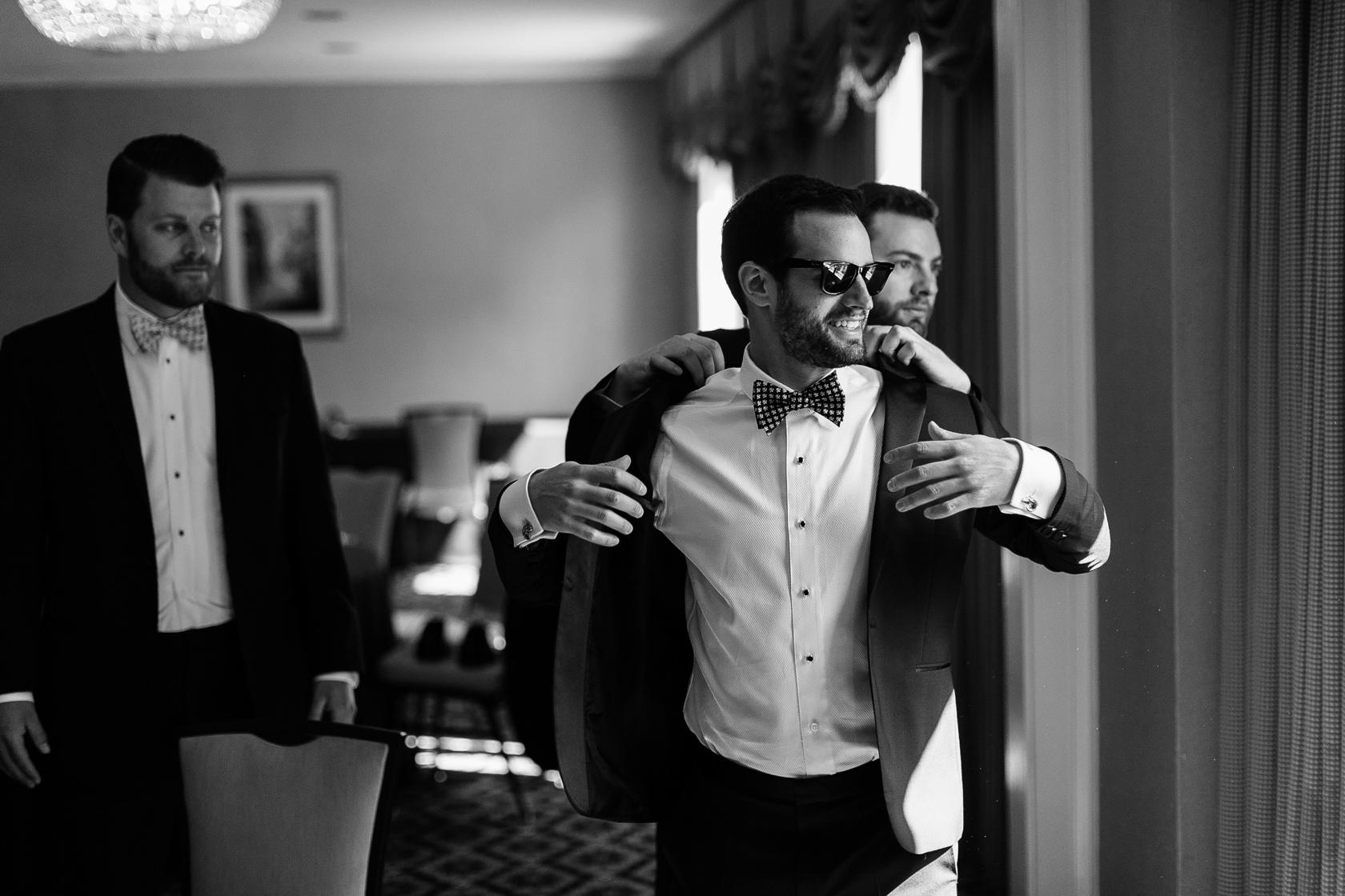 omni royal orleans wedding groom prep 2