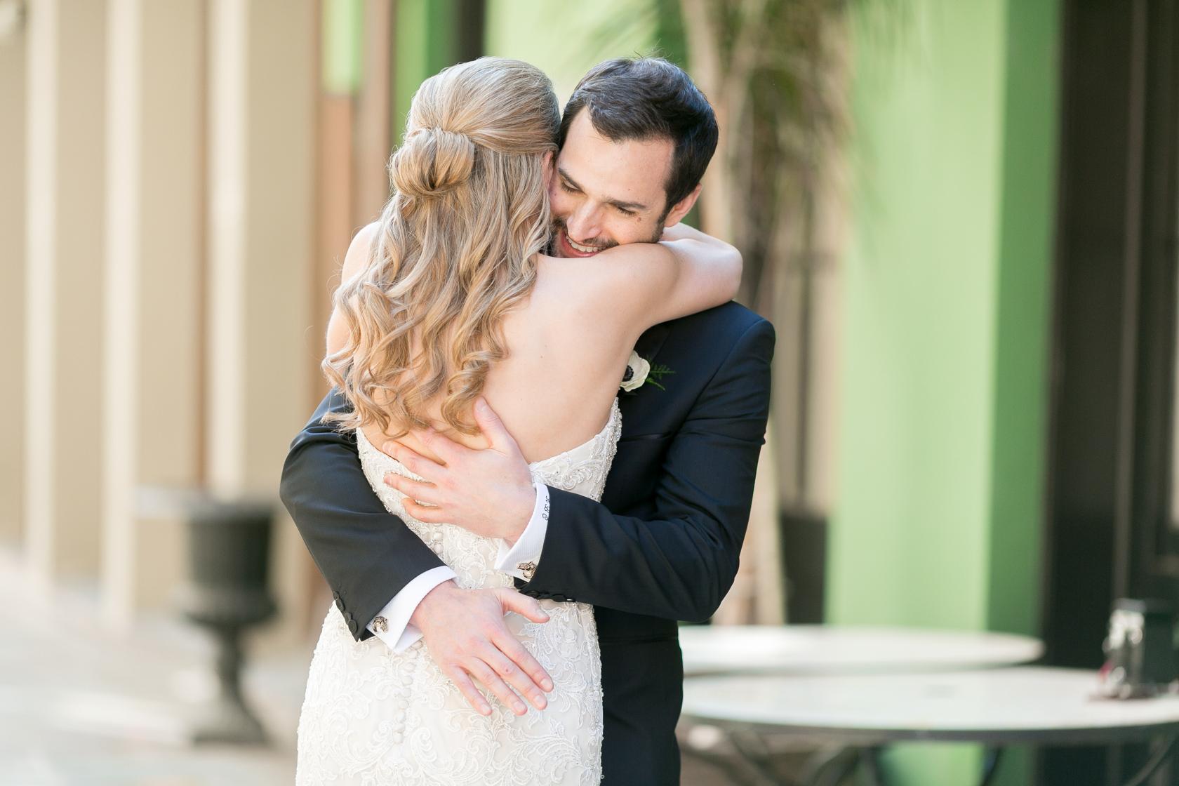 omni royal orleans wedding first look 02