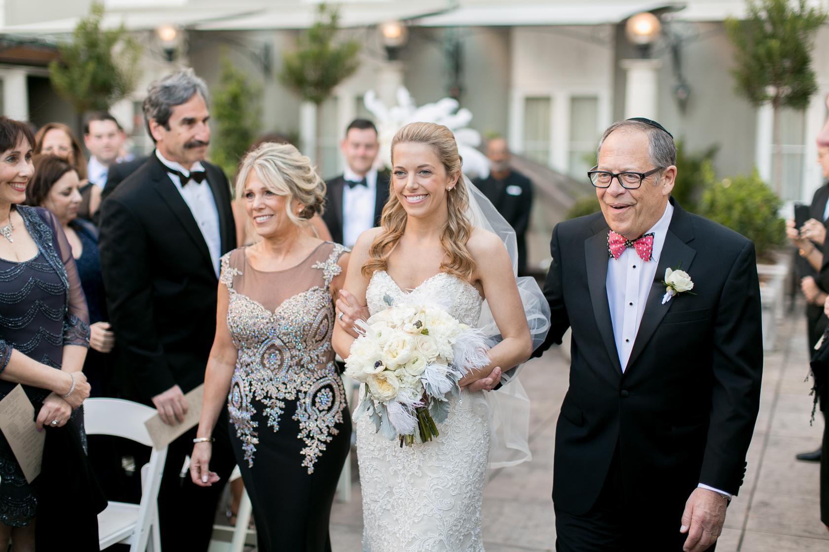 omni royal orleans courtyard wedding ceremony