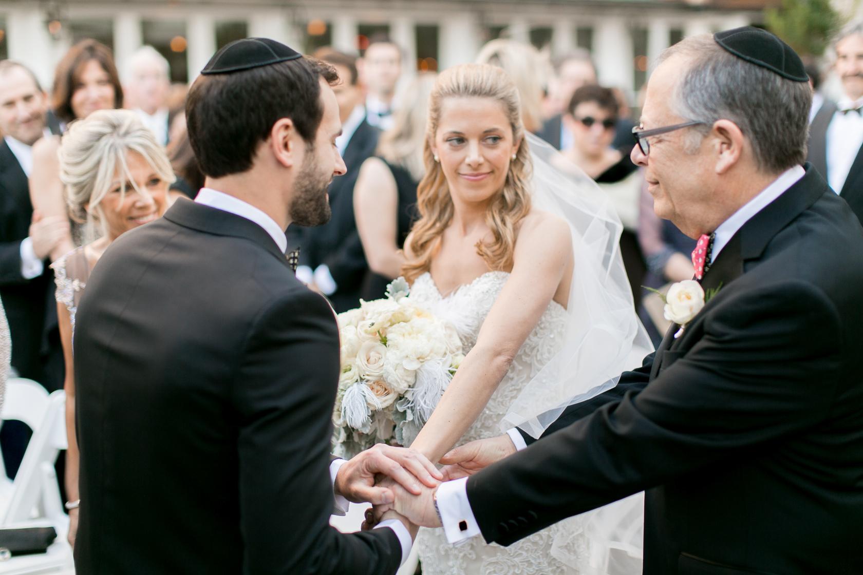 omni royal orleans courtyard wedding ceremony 02