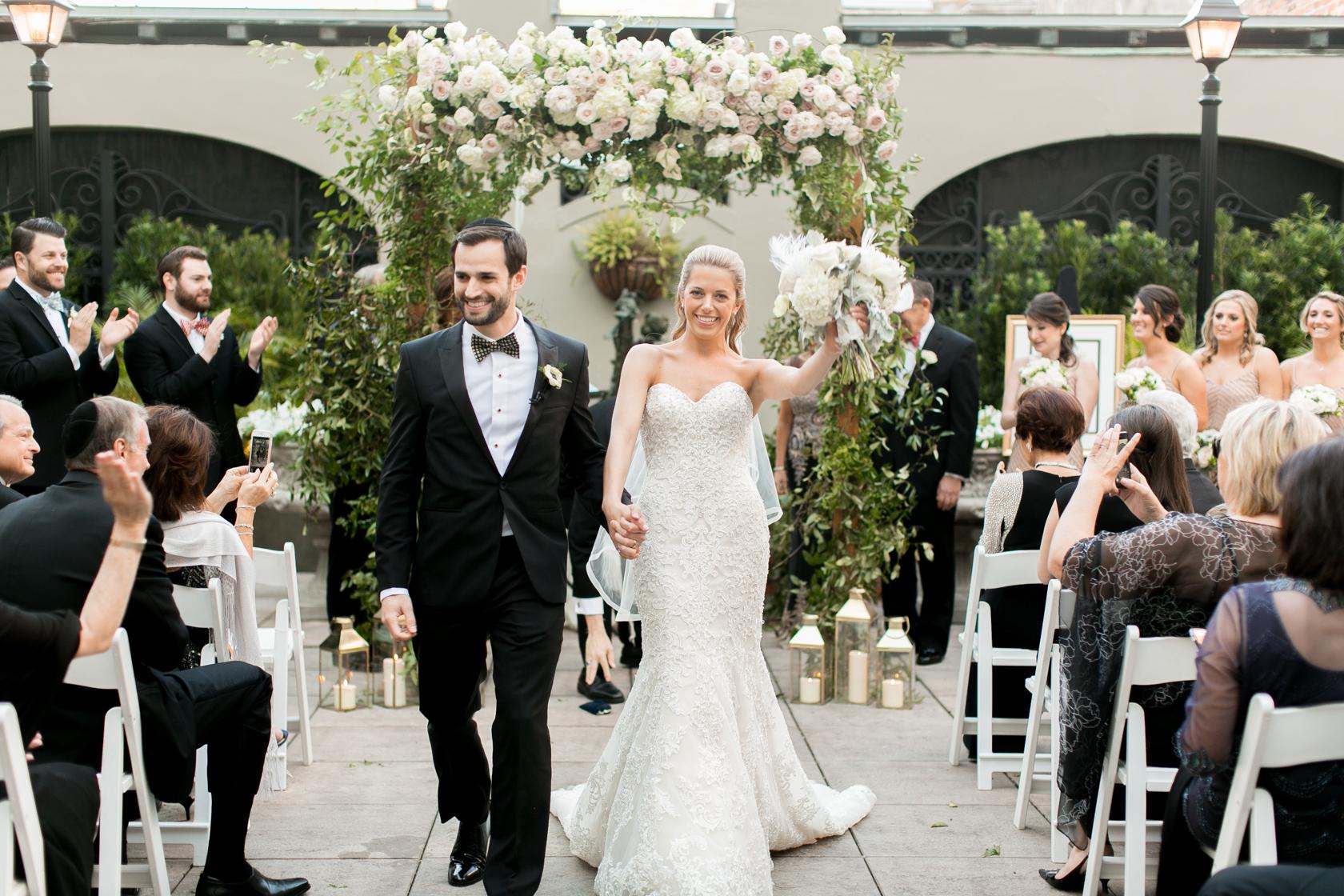 omni royal orleans courtyard wedding ceremony 05