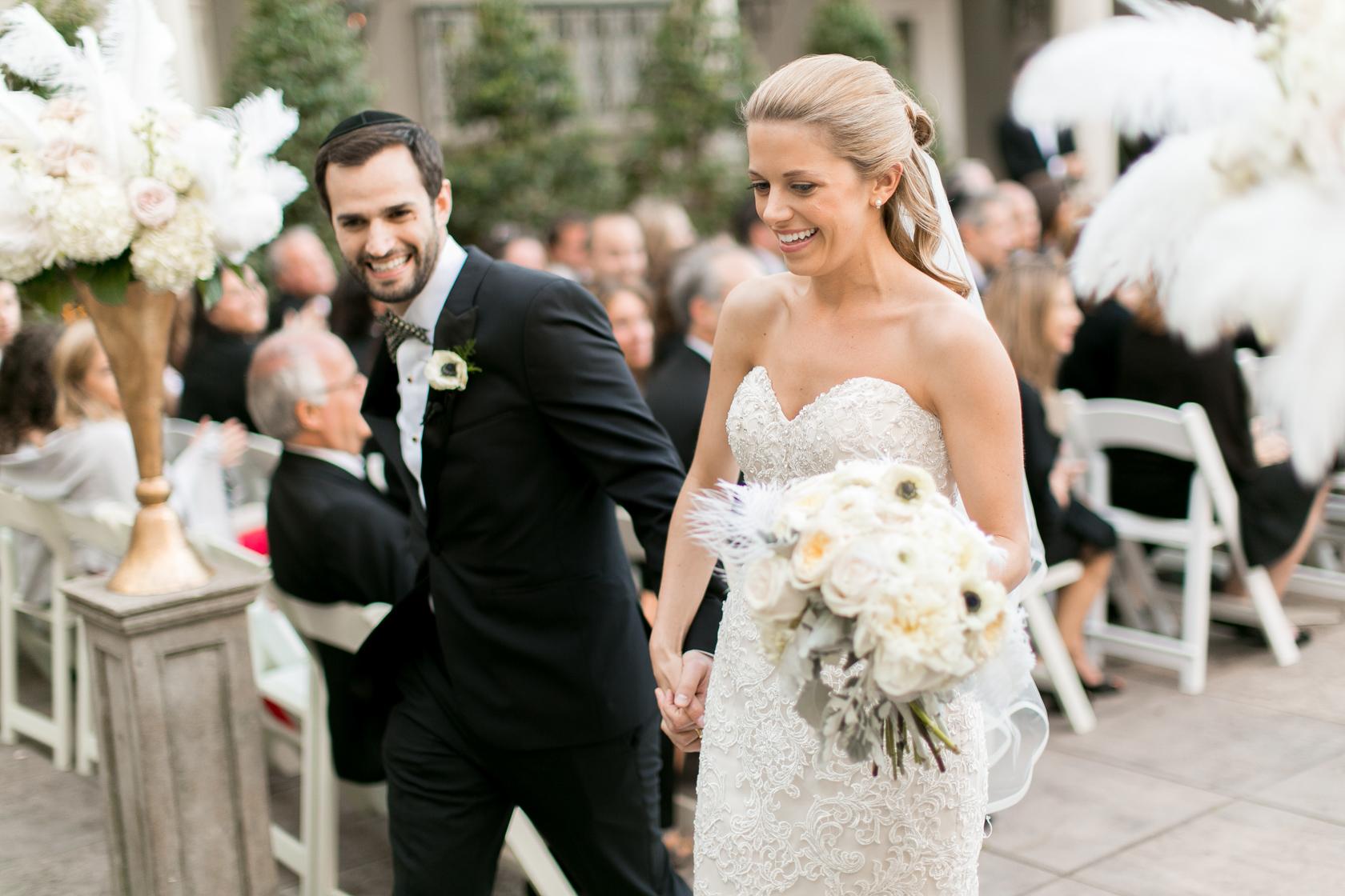 omni royal orleans courtyard wedding ceremony 06