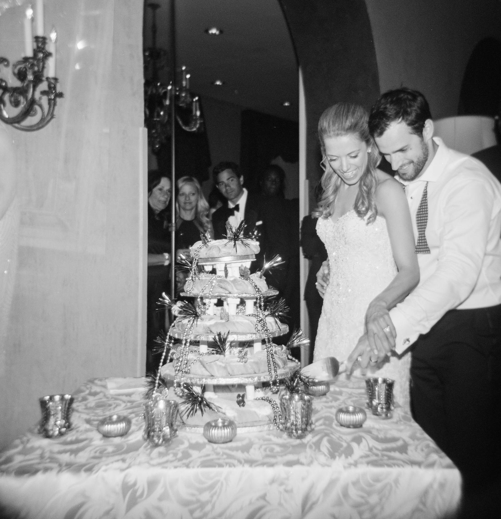 omni royal orleans wedding reception groom cake