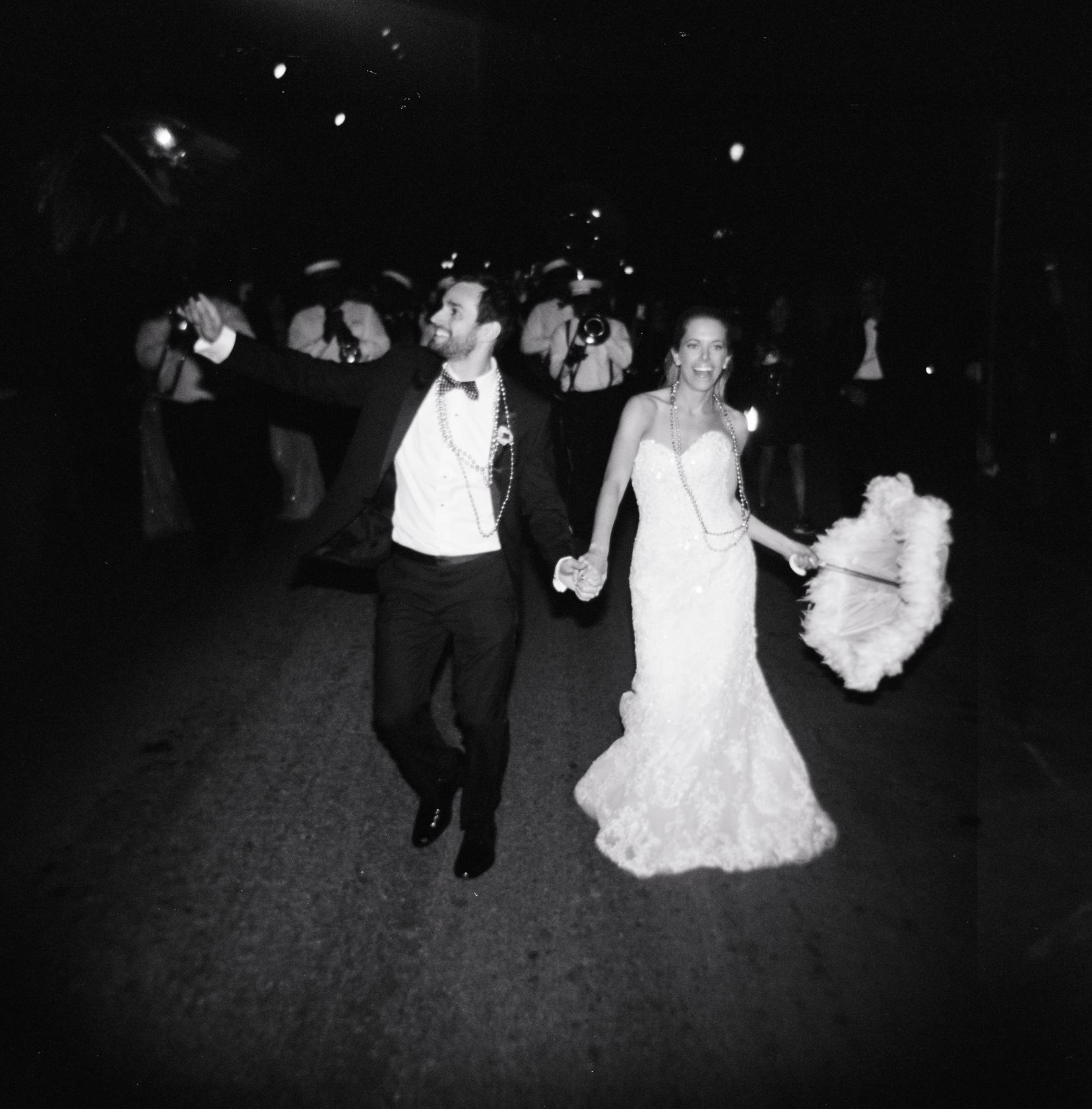 omni royal orleans wedding second line 03