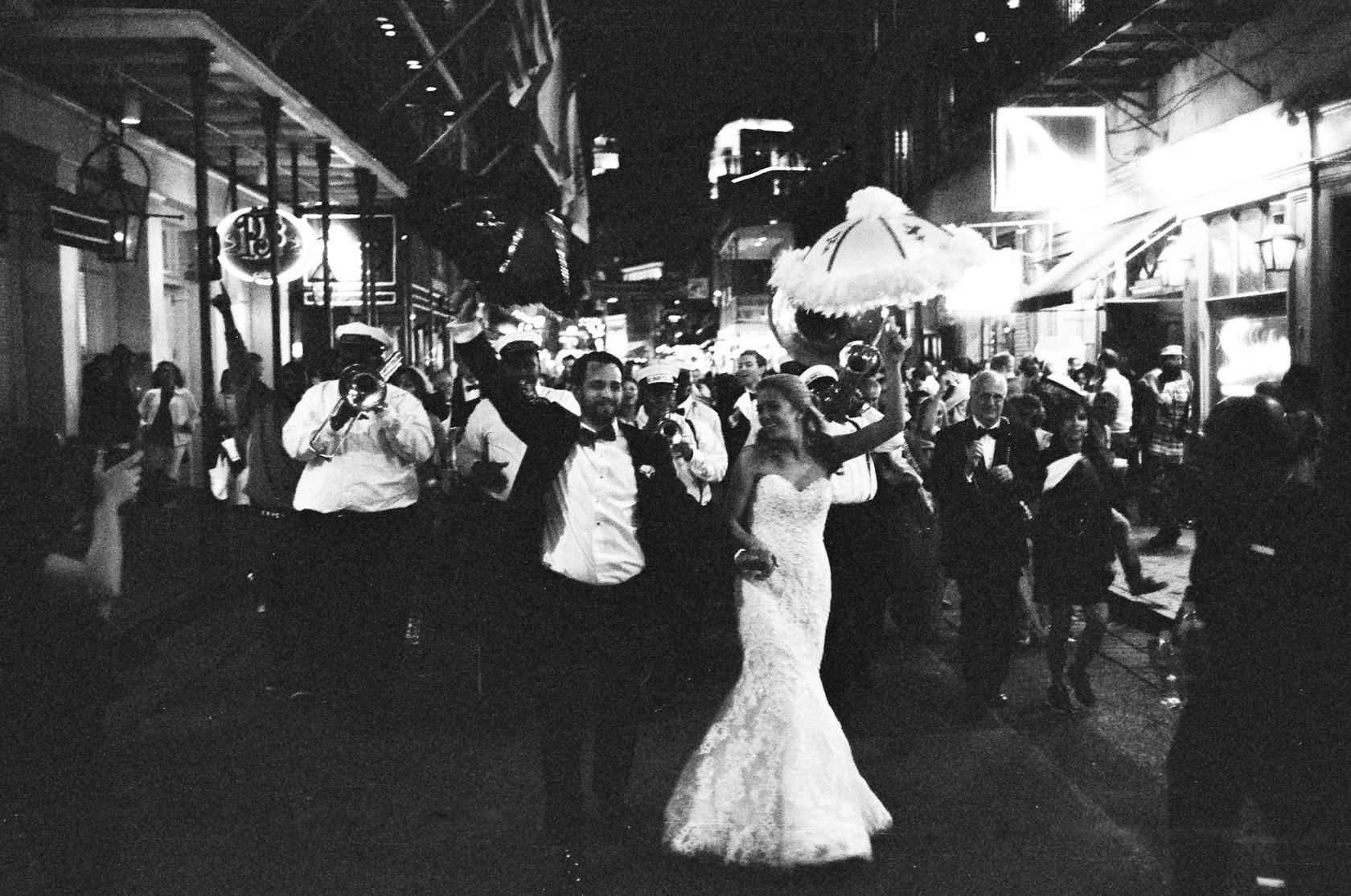 french quarter wedding second line 02