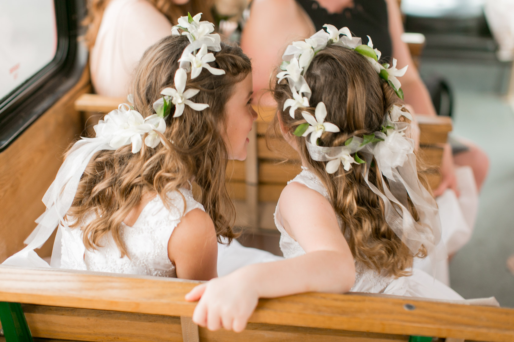 flower girl hair wreaths