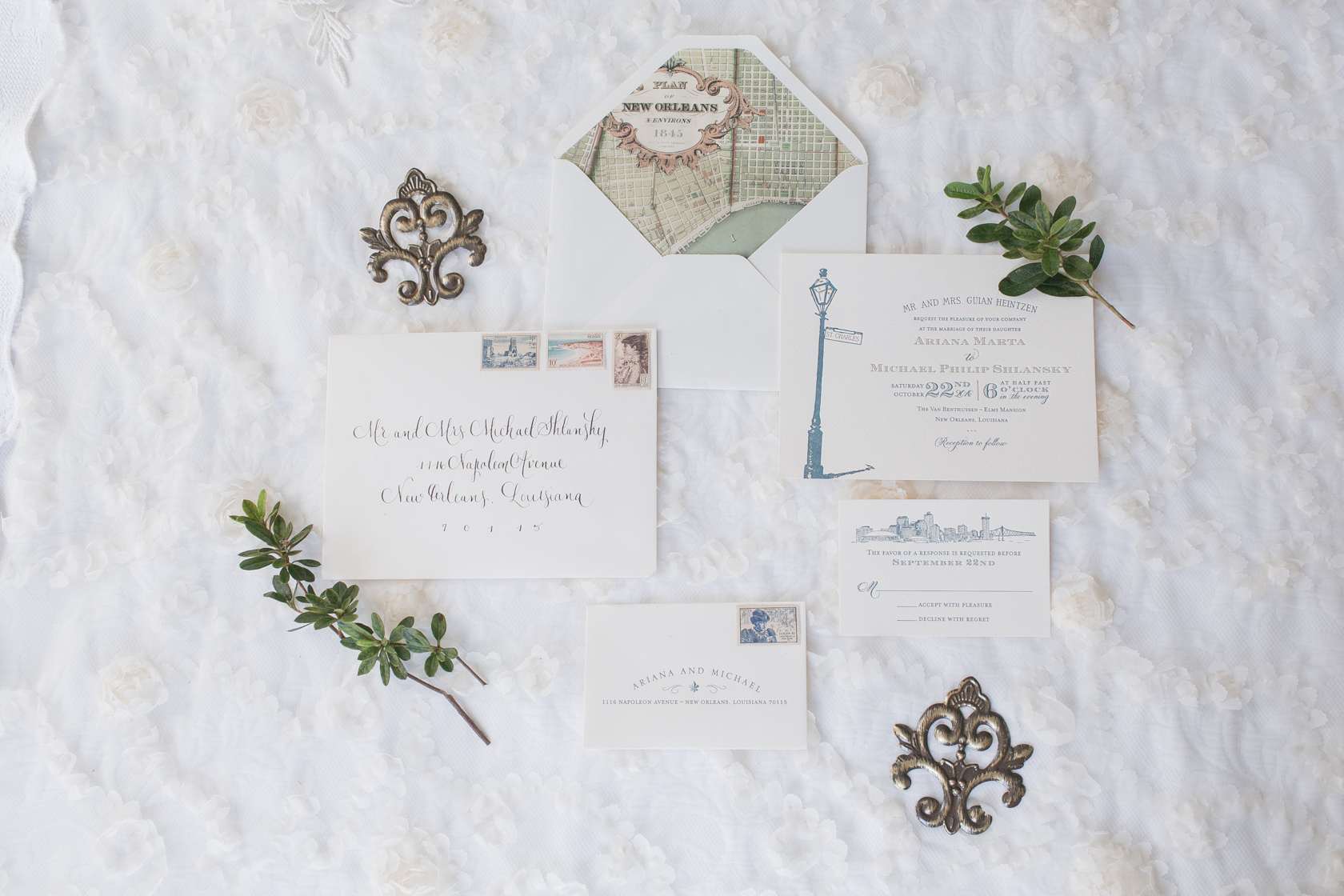new orleans wedding stationery
