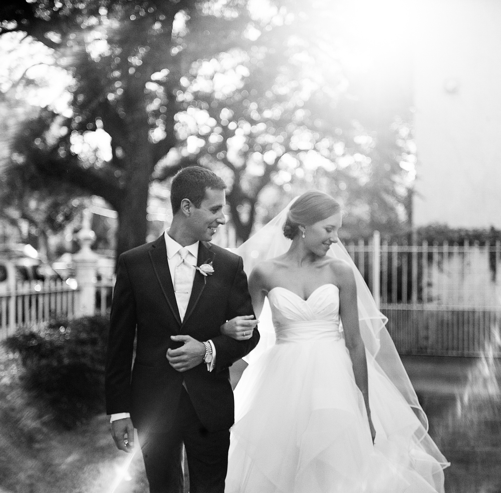 bride and groom at elms mansion in new orleans