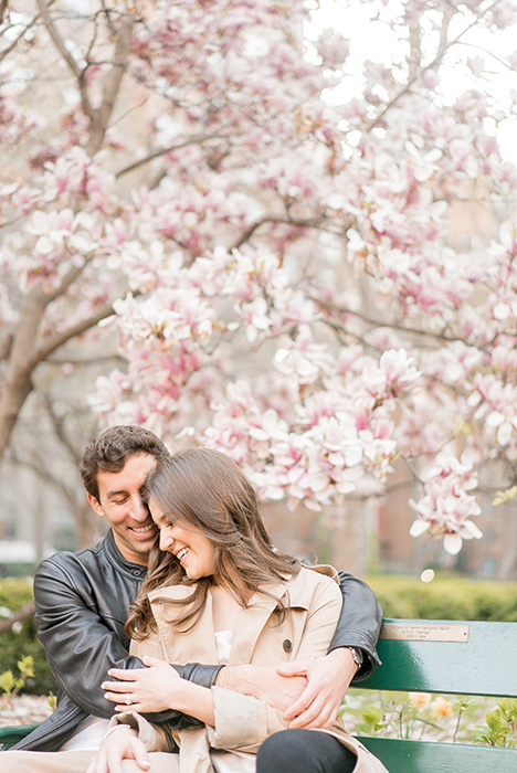new york city engagement photos with cherry blossoms 01