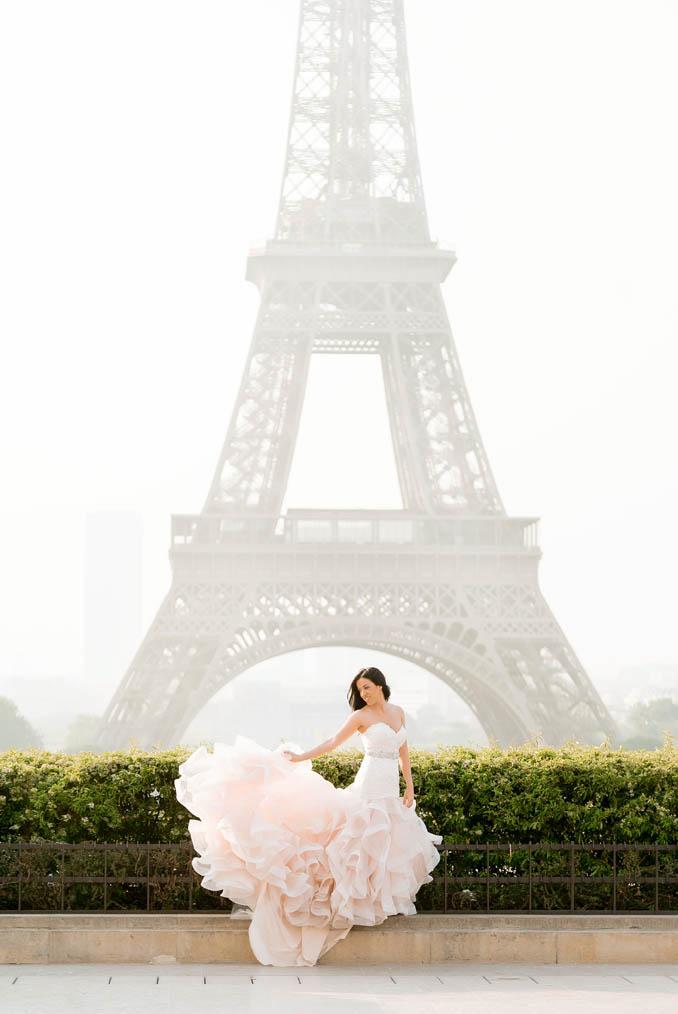 paris bridal portrait