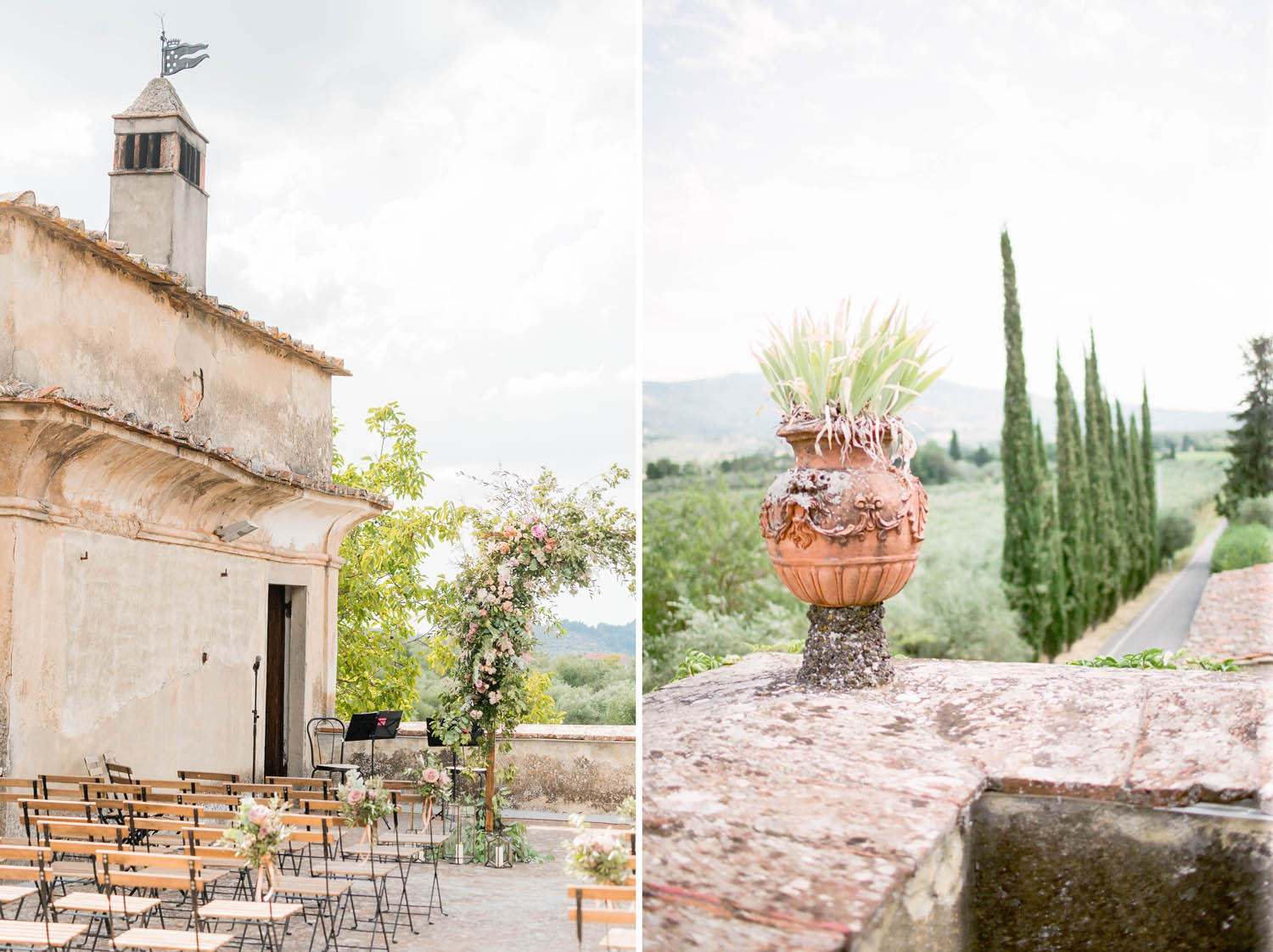 details of a wedding in tuscany
