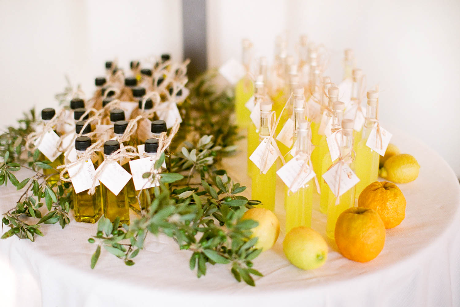 destination wedding gifts of olive oil in tuscany