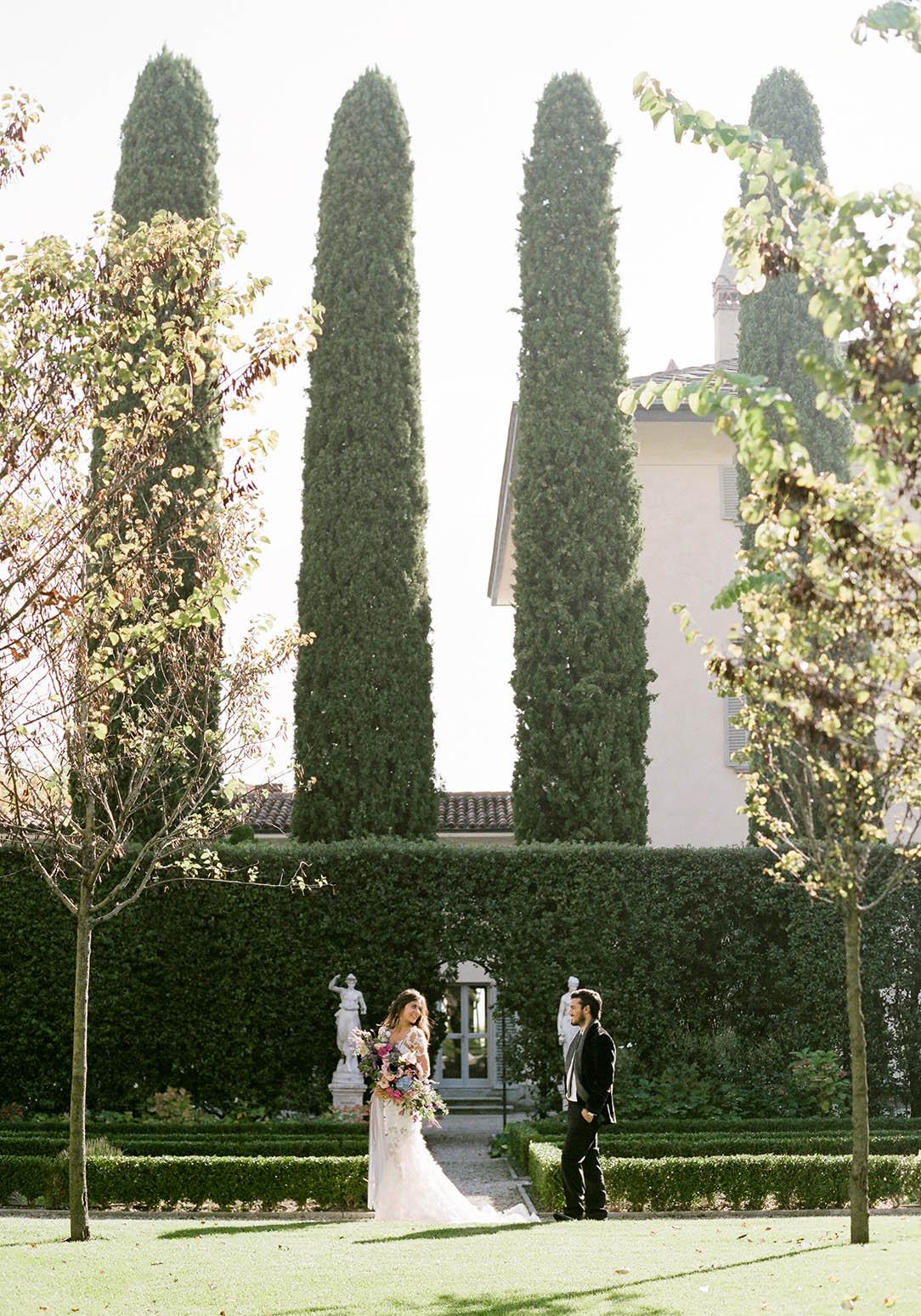 villa balbiano cypress trees
