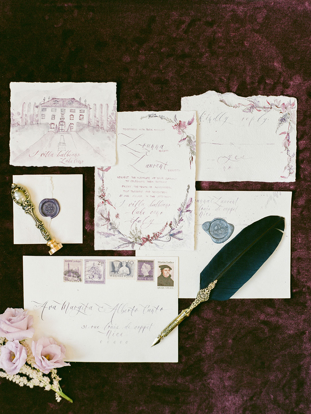 lake como wedding stationery 01