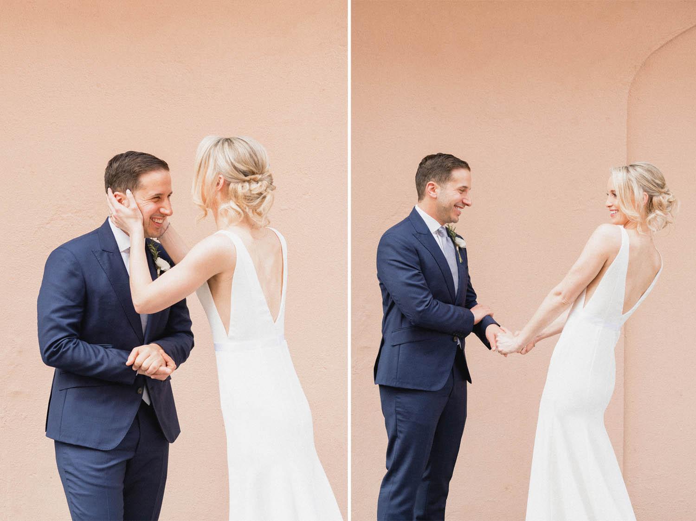 new york wedding couple
