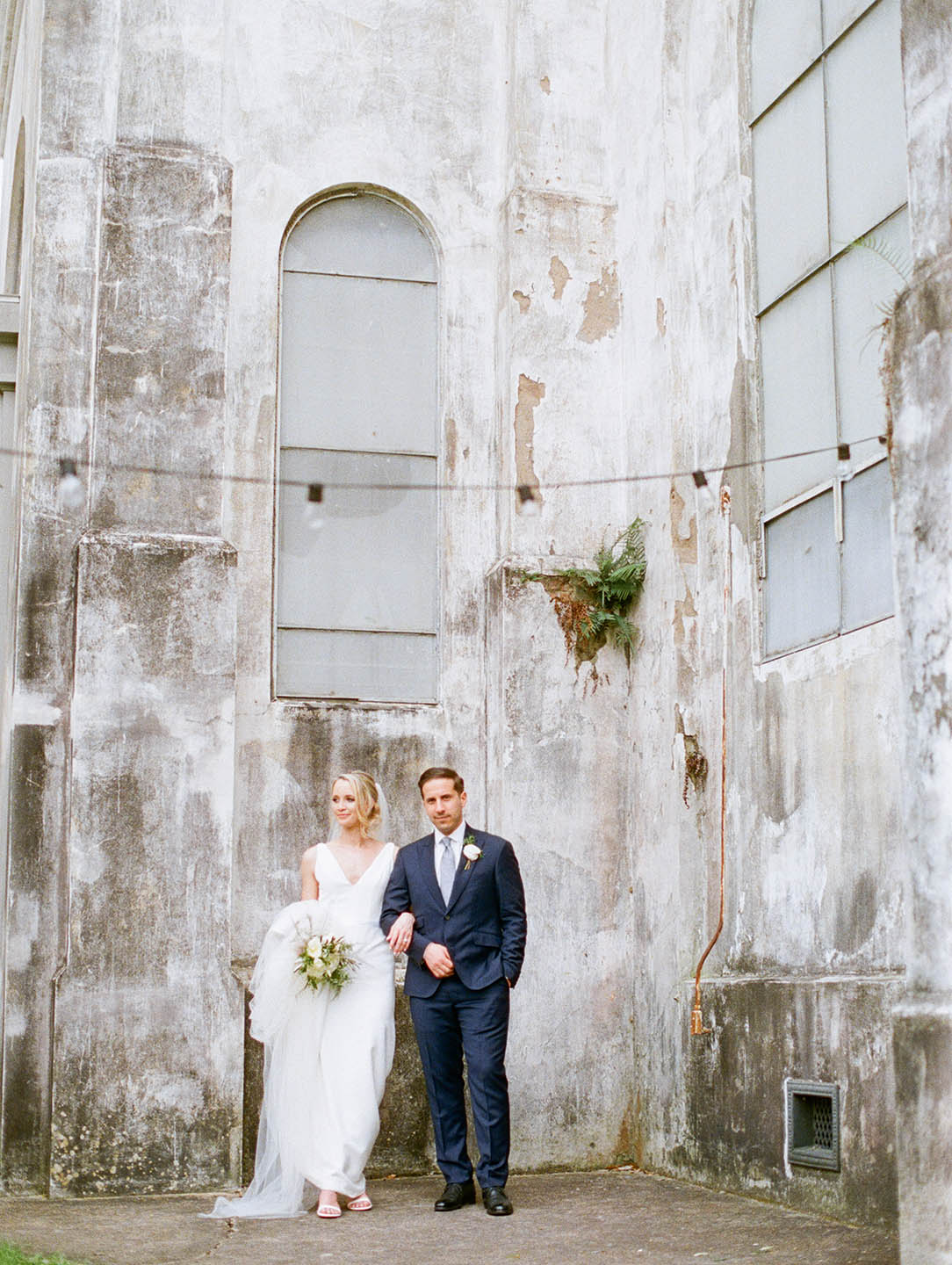 new orleans marigny opera house wedding bride and groom