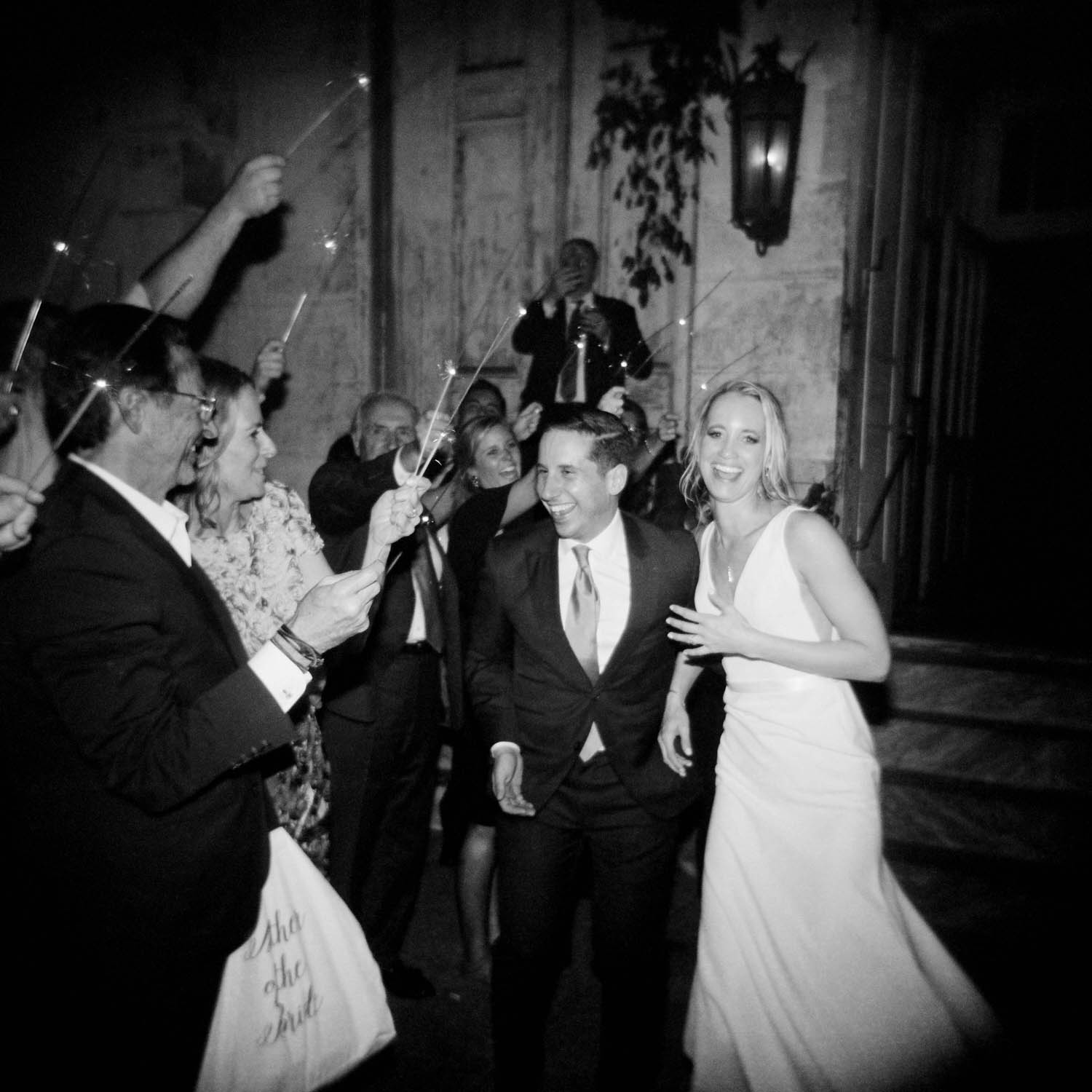 new orleans marigny opera house wedding reception bride and groom departure